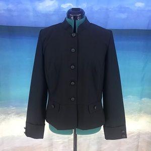 Tradition Black Button Up Peplum Blazer, 12